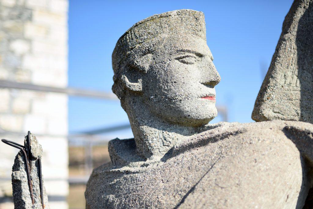 Statue in Kale Fortress, Skopje