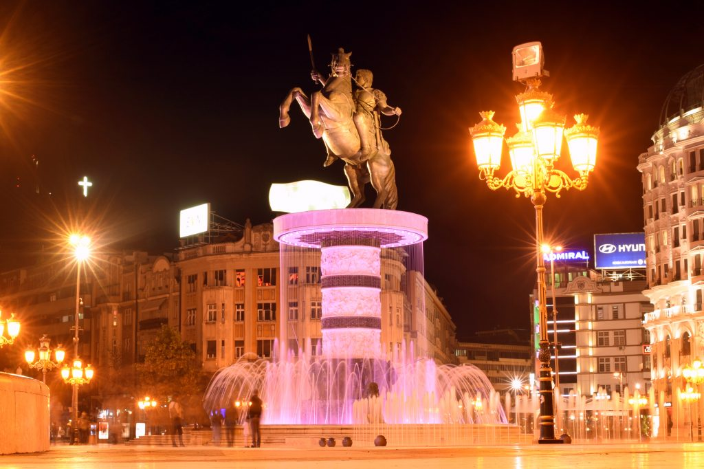 """Warrior on a Horse"" (Alexander the Great) statue Skopje"
