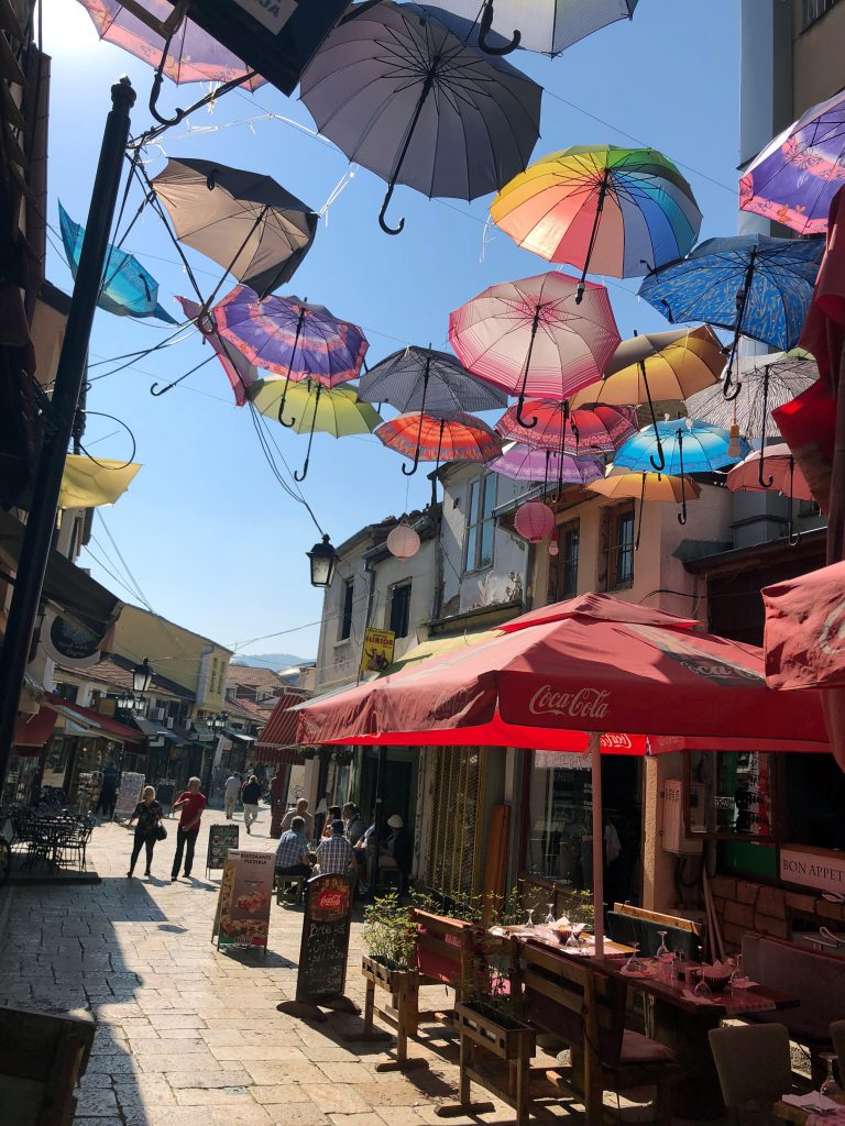Cafes in the Old Bazaar, Skopje